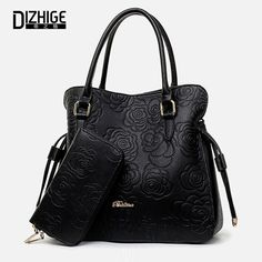 1f71a3ce910e6 Print Rose PU Leather Bags For Women Handbags Designer Purses And Handbags  Ladies Shoulder Bag Luxury Hand Bag Feminina Sac-in Shoulder Bags from  Luggage ...