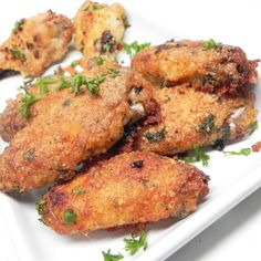 Awesome Crispy Baked Chicken Wings - Recipes I'd Like to Try - Chicken Recipes Corn Flake Crumbs, Crispy Baked Chicken Wings, Glazed Chicken, Chicken Drumsticks, Chicken Wing Recipes, Fries In The Oven, Appetizer Recipes, Appetizers, Cooking Recipes