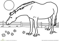 Worksheets: Color the Horse