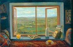 Elena Climent - Room with Landscape of Burgundy