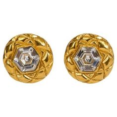 Check out this item at One Kings Lane! Chanel Crystal 70's Quilted Earrings