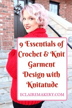 Do you want to learn how to design crochet or knit garments, but don't know where to begin? I've got answers for you! Knitatude is sharing her 9 essentials of crochet & knit garment design, from your gauge swatch to grading patterns, she shares all of her tips. Soon you'll be well on your way to designing! #crochet #knitting #crochetdesign #knitdesign #patterndesign #gaugeswatch #garmentsizing #gradingpatterns #crochetgarment #garmentdesign #garment #knitwear #slowfashion #crochetclothes Crochet Stitches For Beginners, Basic Crochet Stitches, Crochet Videos, Crochet Blogs, Crochet Tutorials, Learn To Crochet, Easy Crochet, Crochet Yarn, Free Crochet