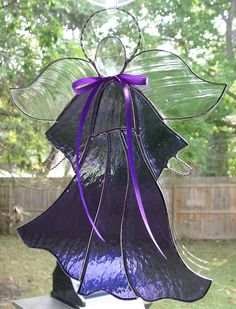 Stained Glass Angels | Purple Stained Glass Angel