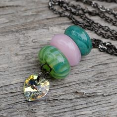 lampwork glass beaded lariat necklace boro girly flickr photo sharing