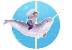 Cetacean Carousel - Narwhal Love by Cindacry.deviantart.com on @DeviantArt