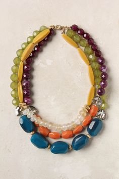 love this 'tarn' necklace by anthropologie... so easy to DIY with stones or wooden beads