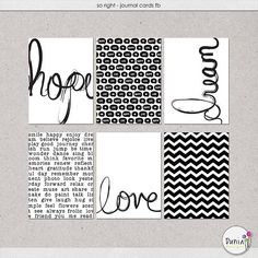 So Right journal cards freebie from Dunia Designs
