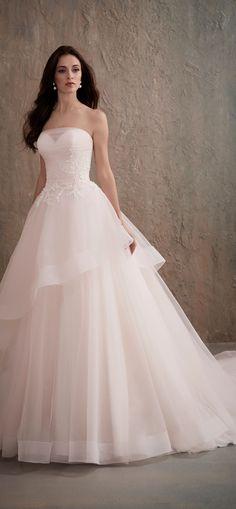 Blush Ballgown Wedding Dress by Christina Wu Brides | @HouseofWuBrands #AdriannaPapellPlatinum #AdriannaPapell #HouseofWu