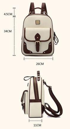Retro British Style Travel Bag Shoulder Bag Buckle Backpack