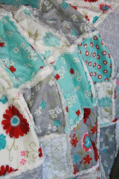 Crib Rag Quilt Baby Girl Crib Bedding Seaside Cottage