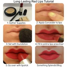 Red Lipstick Tutorial. Great look for a Valentine's date.