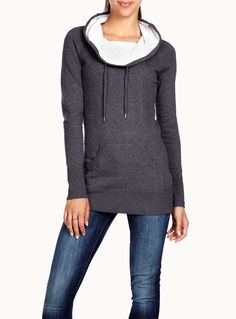 Drawstring collar sweater | Simons