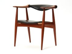 Four teak armchairs by Hans J. Wegner | From a unique collection of antique and modern armchairs at http://www.1stdibs.com/furniture/seating/armchairs/