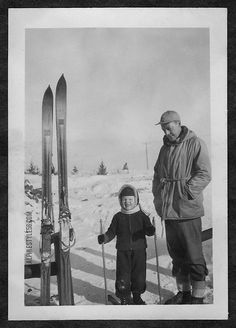 Father and son ski time.