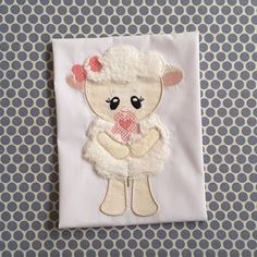Baby Applique Machine Embrodiery Design Baby Cute Lamb by BabyEmbroideryShop on Etsy