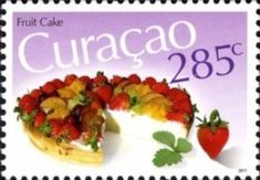 Fruit Cake Food Stamps, Flower Stamp, Old Ads, Postage Stamps, Cake, Mexican, Fruit, Ethnic Recipes, North America
