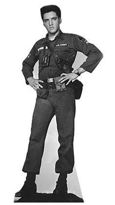 "Opentip.com: Advanced Graphics 382 Elvis Presley-Army Fatigues- 73"" x 33"" Cardboard Standup"