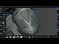 Modeling Armor in Zbrush 01 (League of Legends Garen wip) - YouTube