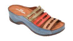 Papuci GRAND MODA albastri, 5201, din piele naturala Sandals, Shoes, Fashion, Slide Sandals, Moda, Sandal, Shoes Outlet, Fashion Styles, Shoe