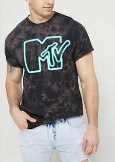 Black Tie Dye MTV Logo Tee Black Tie Dye eddaf6d51
