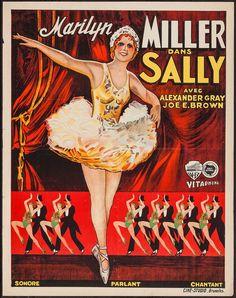 Sally (1929) Stars: Marilyn Miller, Alexander Gray, Joe E. Brown, T. Roy Barnes, Pert Kelton ~ Director: John Francis Dillon (Nominated for 1 Oscar in 1930) (Belgian Poster)