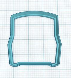 Open Treasure Chest Cookie Cutter Fondant Cutter by ShoreCakeSupply on Etsy