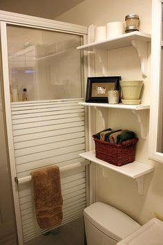 DIY bathroom shelving for-the-home