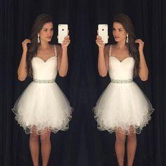 2016 Royal Blue Cheap Homecoming Dresses A-Line Short Tulle Skirt ...