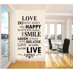 Love do what makes you happy Quotes Wall Decal