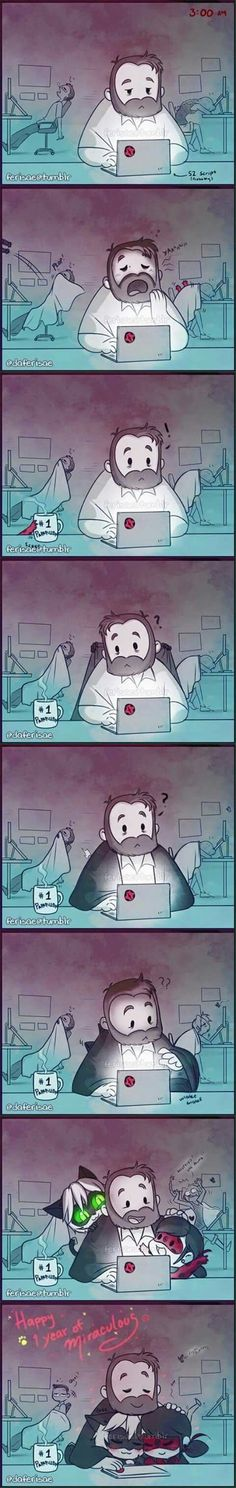 Comic - Miraculous Ladybug - Thomas Astruc, Ladybug e Chat Noir <3