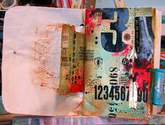 Loving this new art journal page by Donna Downey; check out her latest Inspiration Wednesday video!