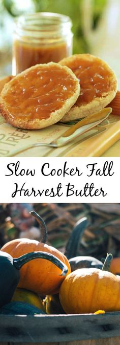 Slow Cooker Fall Harvest Butter with pumpkin, pears, and apples! Freeze to have all year long.