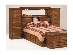 Handcrafted Mid Wall Bed, wall beds with maximum storage space, adjustable shelves, cedar-lined cabinets, electrial outlets and more. Secret Compartment Furniture, Bedroom Bed, Bedroom Ideas, Hiding Places, Bed Wall, Floor Space, Adjustable Shelving, Furniture Making, Bedding Sets