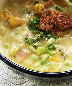 QUICK AND FILLING: Some soups are thin, ideal for starting a meal because they stimulate the appetite rather than satisfy it. Today's recipe definitely does not come into this category as it is thick, creamy and a meal in itself. taking only minutes to make, it is perfect for a hearty lunch or as a lazy Sunday night meal on a tray in front of the television.