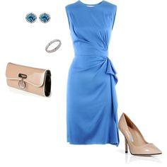 """""""Diane vonFurstenberg - Sailor Blue Dress Alba"""" by lcgj on Polyvore"""