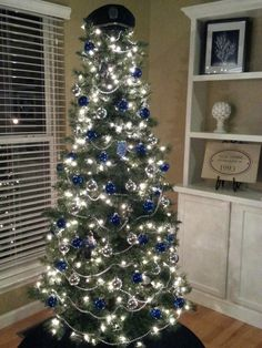 Police Christmas tree so doing this next year Christmas Tree Tops, Office Christmas, Christmas Tree Themes, Blue Christmas, Xmas Tree, Winter Christmas, Christmas Holidays, Christmas Crafts, Christmas Ideas