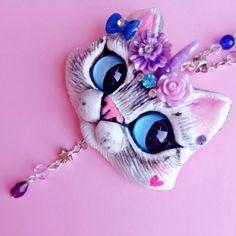 Custom made Unikitty Pet portrait Cat pendant by FleurDeLapin