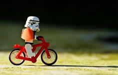 Stormtrooper on the bike! :)