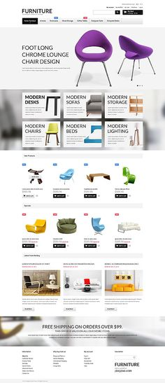 Furniture Store #Magento #template. #themes #business #responsive #webshop