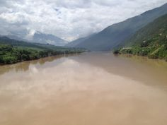 A section of the Changjiang river in North Yunnan.