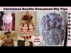 25 days of Christmas YouTube Hop Shabby Chic Ornament Designs by Crafty Devotion - YouTube
