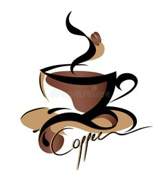 Abstract Swirl Artwork Cup of Coffee Java w/ Bean - Plywood Wood Print Poster Wall Art Coffee Logo, Coffee Art, Coffee Cups, Cafe Logos, Coffee Cup Photo, Cheap Coffee Maker, Coffee Vector, Coffee Signs, I Love Coffee