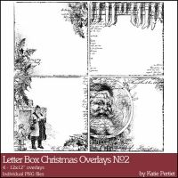 Letter Box Christmas Overlays No. 02