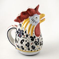 Legend has it that the Rooster Pitcher originated from the failed assassination attempt against the ruling family of Florence during the Italian Renaissance. Today the rooster pitcher is given as housewarming and wedding gifts as a symbol of good luck. $84.00