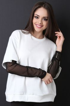 #Fashion #Style Now available on our store: Boxy Terry Knit S...  Check it our here! http://www.justloveshopping.com/products/ung75159?utm_campaign=social_autopilot&utm_source=pin&utm_medium=pin