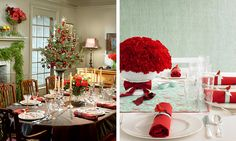 Funny Tablecloth Design Ideas in Blue for Christmas Table Decoration