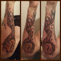 #Tree #Growing from #Clock . Arm . Artist- Renegade 678-481-5369