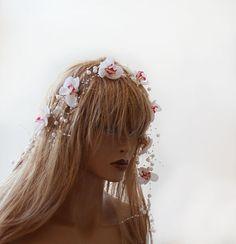 Wedding Pearl Flower Headband