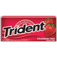 American Strawberry Twist Flavour Trident Gum ❤ liked on Polyvore featuring food, fillers, food and drink, accessories and food & drinks