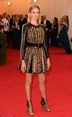 Dolled up: The blonde beauty had previously wowed at the Met Gala on Monday night as her g...
